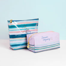 Load image into Gallery viewer, Dream Odyssey Stripe Lilac Square Cosmetic Bag