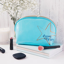 Load image into Gallery viewer, Dream Odyssey Star Aqua Curve Cosmetic Bag