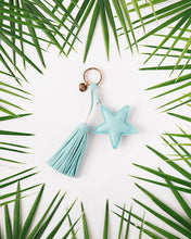 Load image into Gallery viewer, Dream Odyssey Aqua Star Tassel Keyring