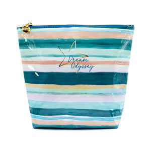 Dream Odyssey Stripe Aqua Washbag
