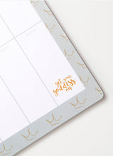 Load image into Gallery viewer, Get Your Goddess On Crowns Grey Weekly Planner