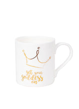 Load image into Gallery viewer, Get Your Goddess On Crown White Mug