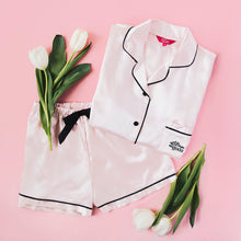 Load image into Gallery viewer, A Gift From The Gods Shorts Set Pink Satin PJs
