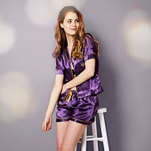 Load image into Gallery viewer, A Gift From The Gods Purple Shorts Satin PJs