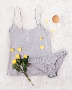 A Gift From The Gods Grey Cami and Briefs Set