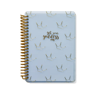Get Your Goddess On Crowns Grey A6 Spiral Notebook