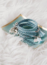 Load image into Gallery viewer, Blue Leather Rope Bracelet