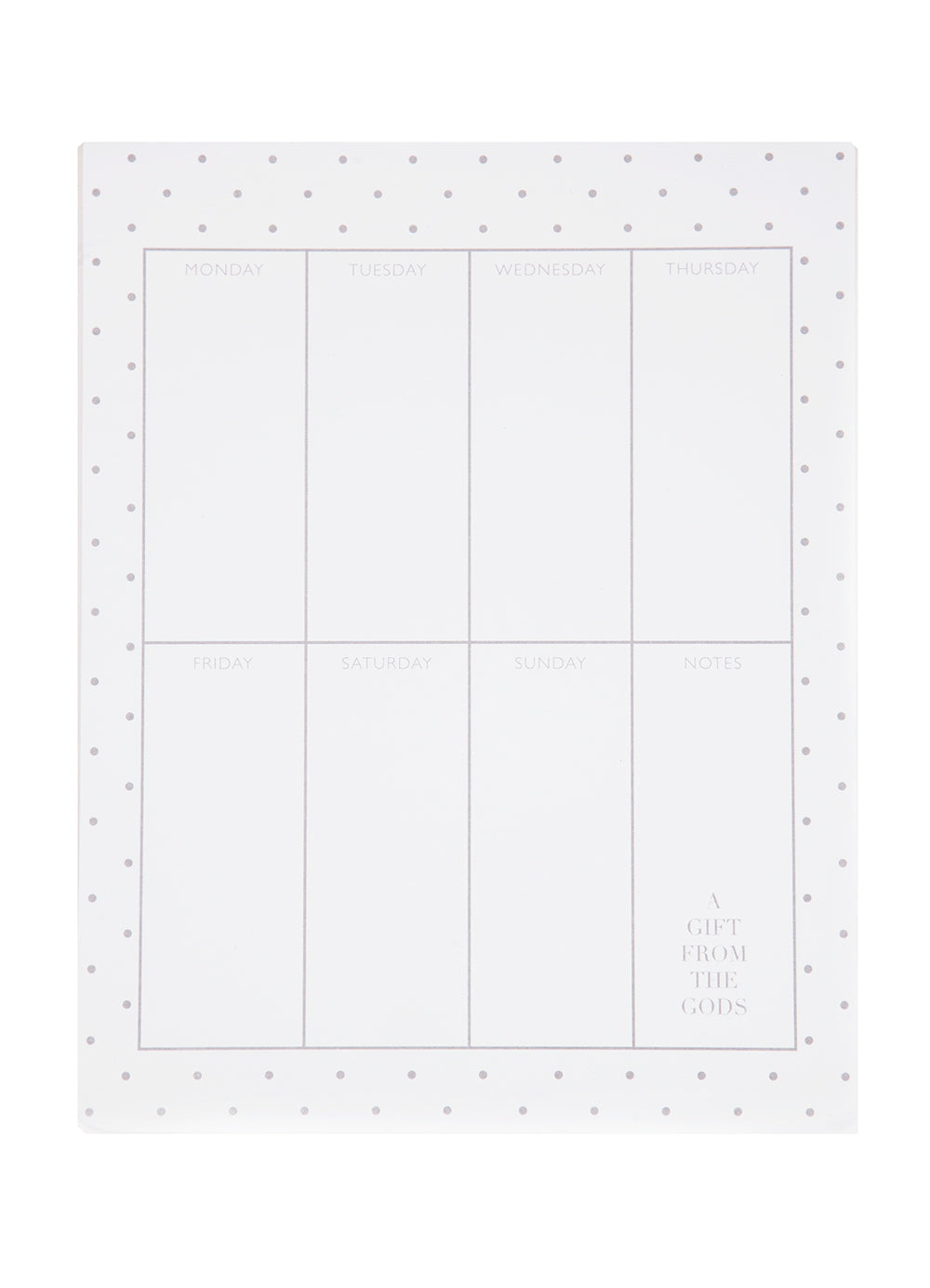 A Gift From The Gods Polka Dots White Weekly Planner