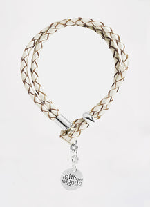 White Leather Rope Bracelet