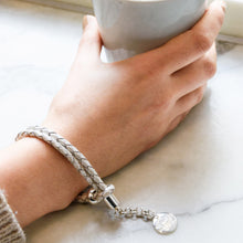 Load image into Gallery viewer, White Leather Rope Bracelet