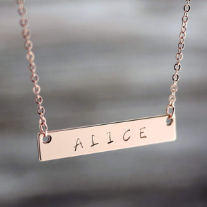 A Personalized Your Name Bar Nacklace Dainty Bar