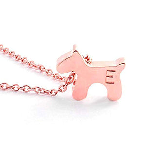 Puppy charm Necklace Hand stamped Personalized dainty Delicate Initial Charms Animal Dog Necklace Tiny 16K Gold Silver Rose Gold -Plated Best Graduation Day gift