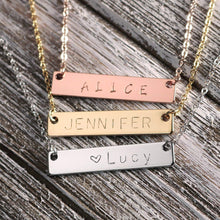 Load image into Gallery viewer, A Personalized Your Name Bar Nacklace Dainty Bar