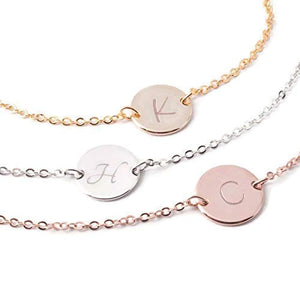 Personalized Anklet Plate Pendant Delicate Initial Charms