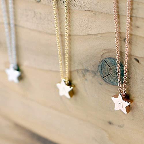 Star Necklace - Dainty Hand stamped Delicate Personalized Initial Charms Star Necklace bridesmaid Wedding Graduation Best Graduation Day gift
