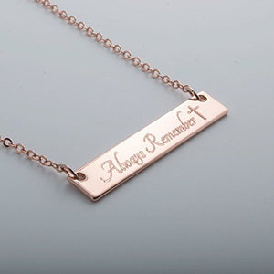 Custom Name bar necklace Dainty Hand stamped or Machine Engraved Custom Necklace Handmade Wedding Birthday Best Graduation Day gift