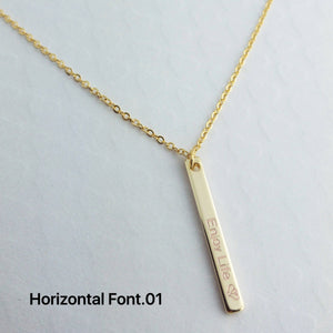 Personalized Vertical Name Bar Necklace