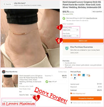 Load image into Gallery viewer, Luxury Gorgeous Name Bar Anklet