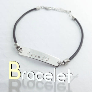Personalized Name Bar Bracelet