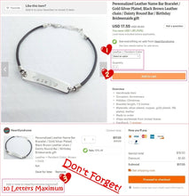 Load image into Gallery viewer, Personalized Name Bar Bracelet