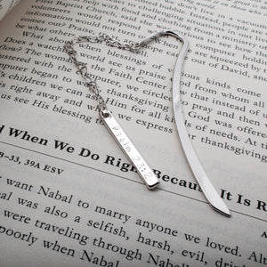 Personalized Your Bookmark with Your Favorite Bible Verse/16k Gold Silver Plated/Gifts for Her Baptism Wedding Mothers day Mother Daughter