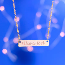 Load image into Gallery viewer, Customized Elegant Big Name Bar Necklace