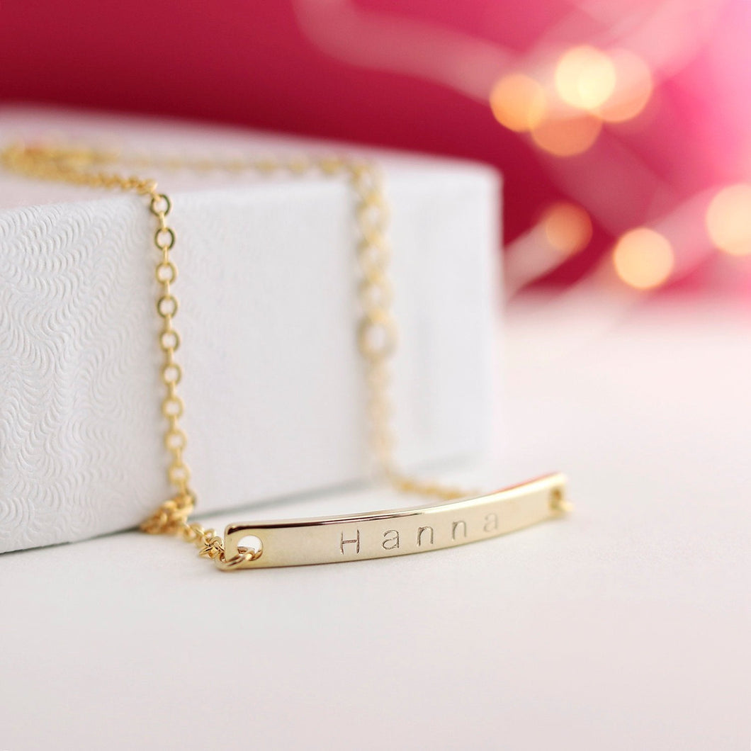Personalized Name Bar Bracelet / / Gold, Silver, Rose Gold Plated