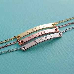 Luxury Gorgeous Name Bar Anklet