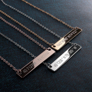 Customize your own Large Coordinate Bar Necklace 16k Gold plated/multi occasions gift for Bridesmaid Wedding Mothers day Mother Daughter mom