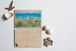 Tresco Wooden Postcard (Photography by Islander Ellie Tabron)