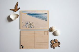 Tresco Wooden Christmas Card (photography by Islander Ellie Tabron)