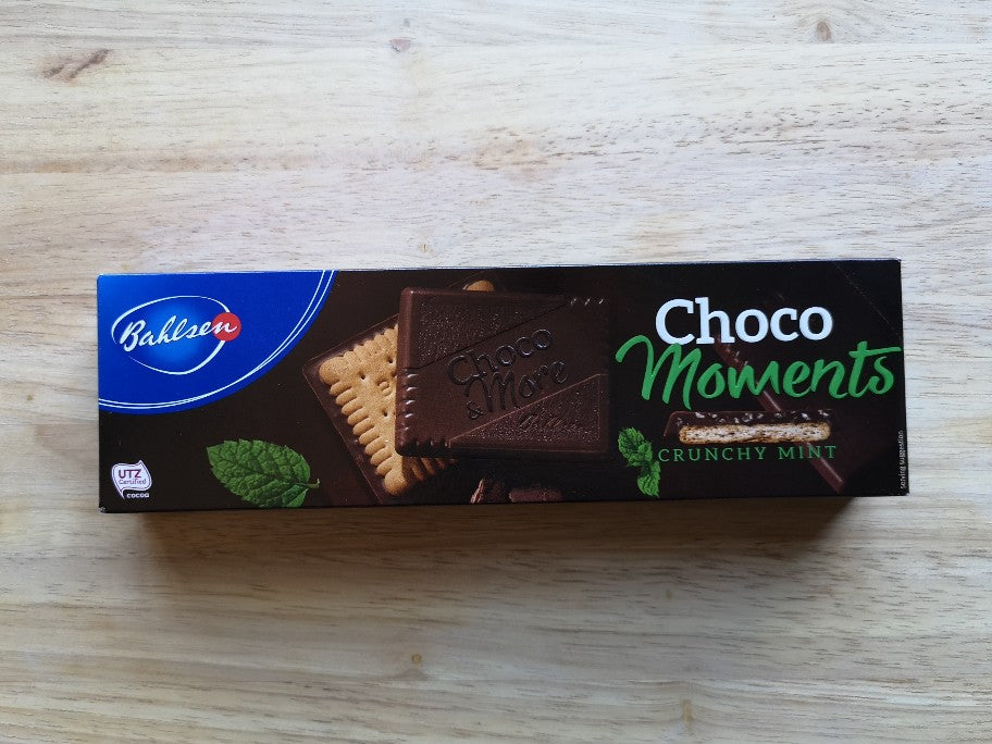 Bahlsen Choco Moments Crunchy Mint Biscuits 120g