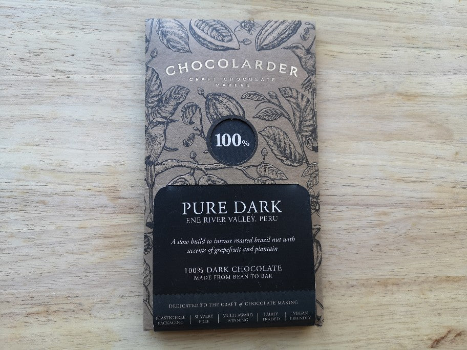 Chocolarder Cornish Pure Dark Chocolate 100% 70g