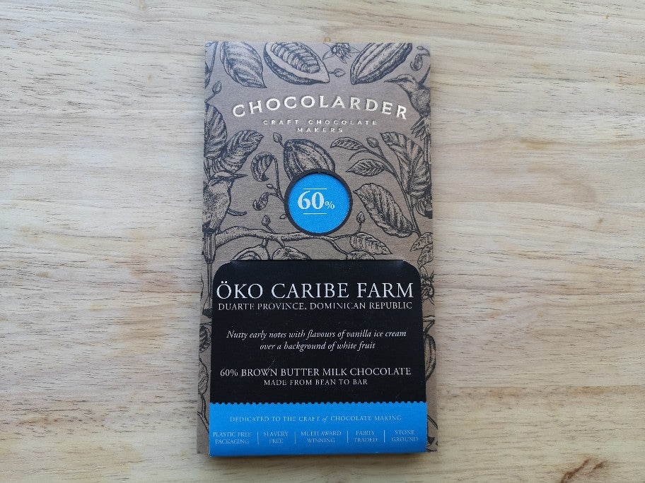 Chocolarder Cornish Oko Caribe Farm Chocolate 70g