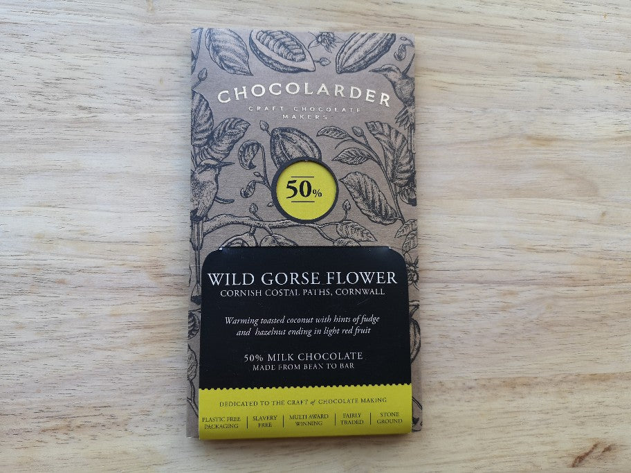 Chocolarder Cornish Wild Gorse Flower Chocolate 70g