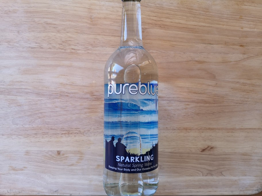 Pure Blue Cornish Sparkling Spring Water 750ml