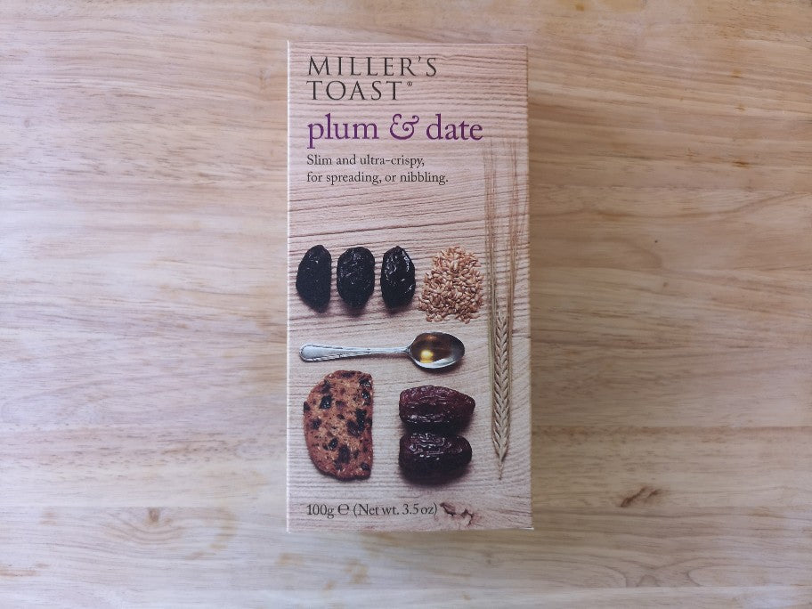 Millers Toast Plum & Date Crackers 100g
