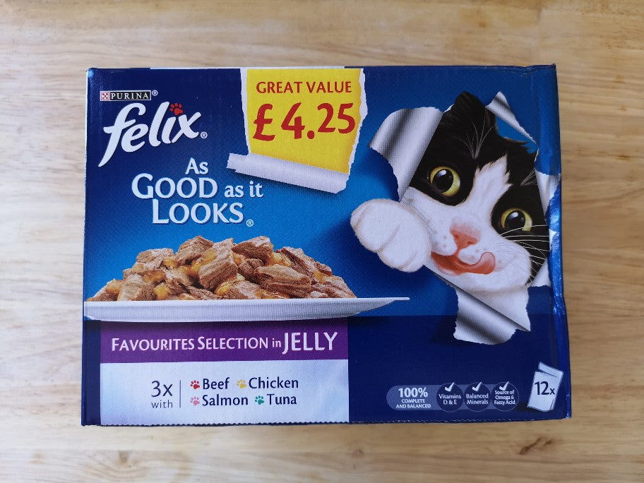 Felix Cat Food Selection in Jelly 12 Pack