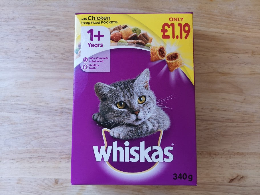Whiskas Dry Cat Food Box 340g