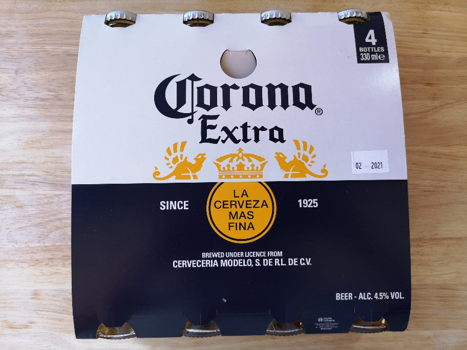 Corona Extra Beer 4 x 330ml Bottles