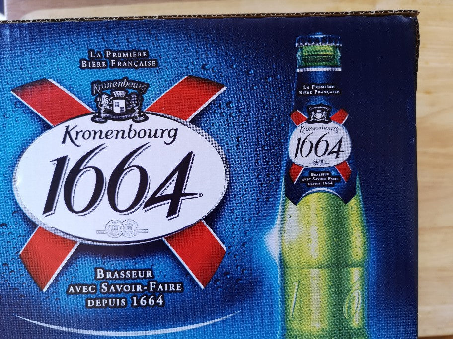 Kronenbourg 1664 Beer 12 x 275ml Bottles Box