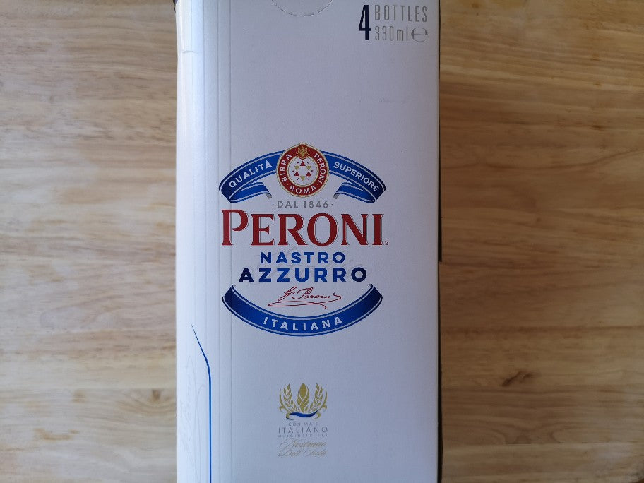 Peroni Nastro Azzurro 4 x 330ml Beer Bottles