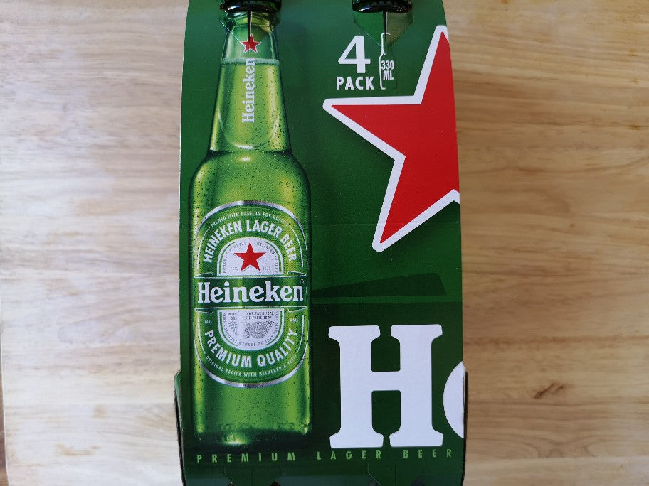 Heineken Lager Beer 4 x 330ml Bottles