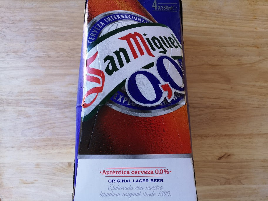San Miguel 0.0 Alcohol Free Beer 4 x 330ml Bottles