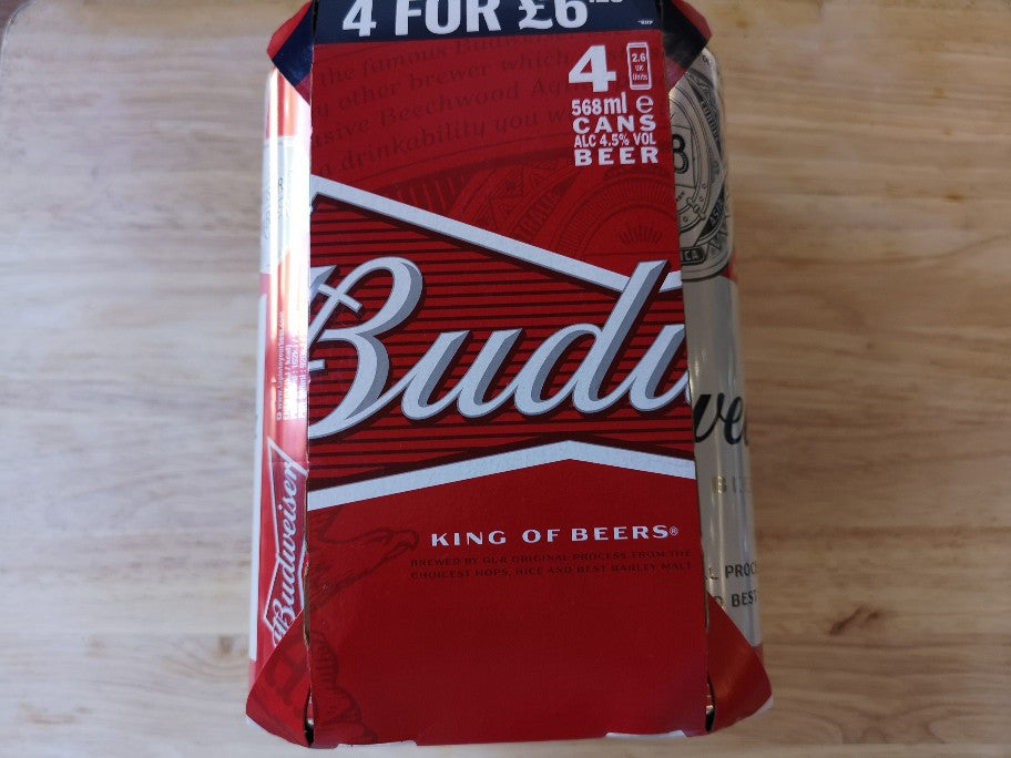 Budweiser Beer 4 x 568ml Cans
