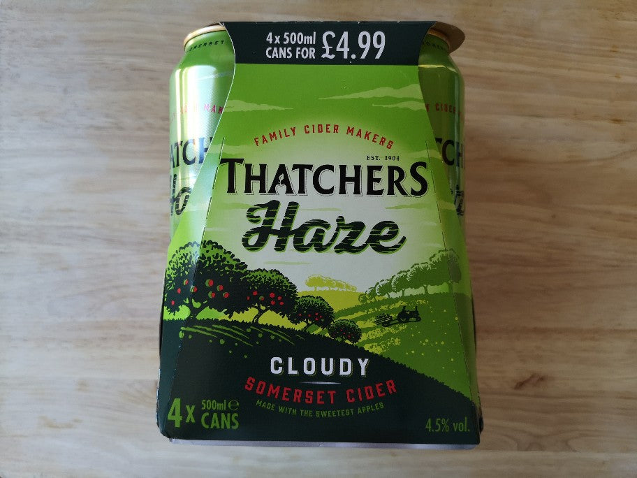 Thatchers Haze Cloudy Cider 4 x 500ml Cans