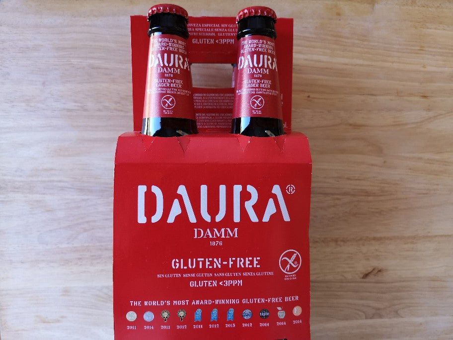Daura Damm Gluten Free Beer 4 x 330ml Bottles
