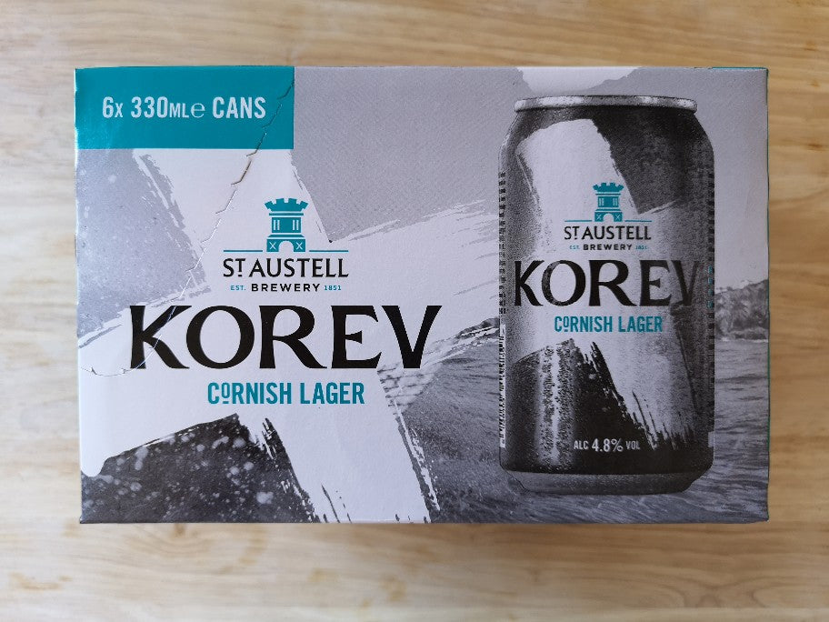 St Austell Korev Cornish Lager 6 x 300ml Cans