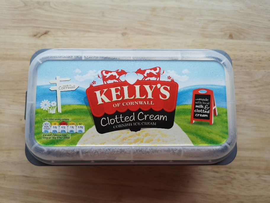 Kellys Clotted Cream Cornish Ice Cream 950ml