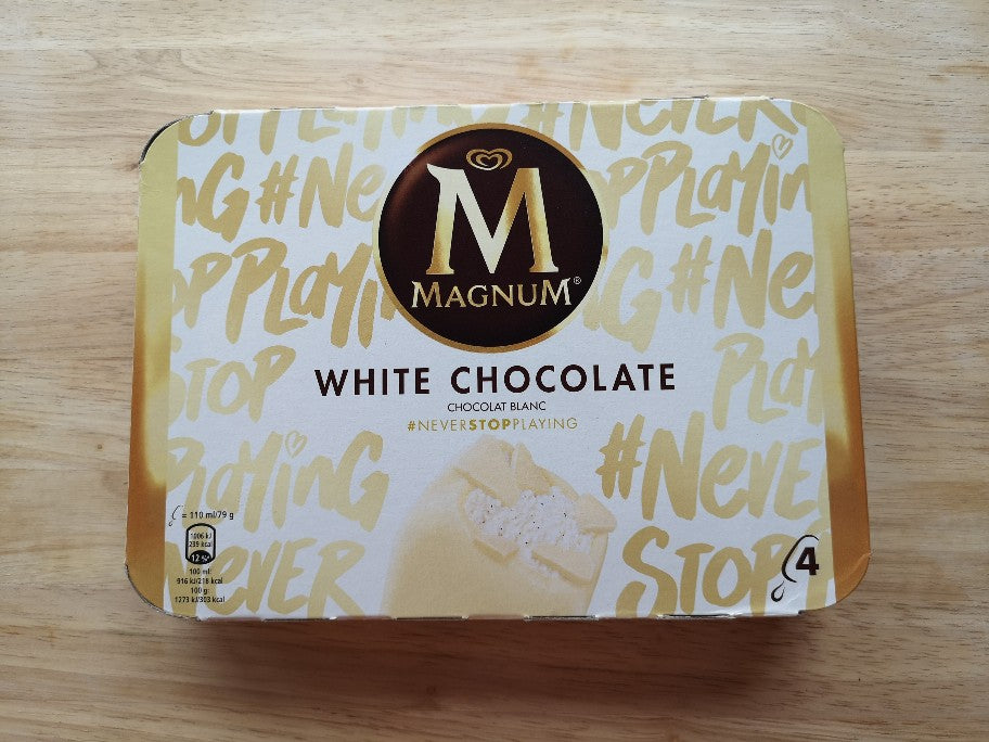 Magnum White Ice Cream 4 Pack